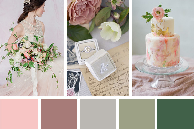 Beautiful Blush Wedding Color Palette Pictures - Styles & Ideas ...